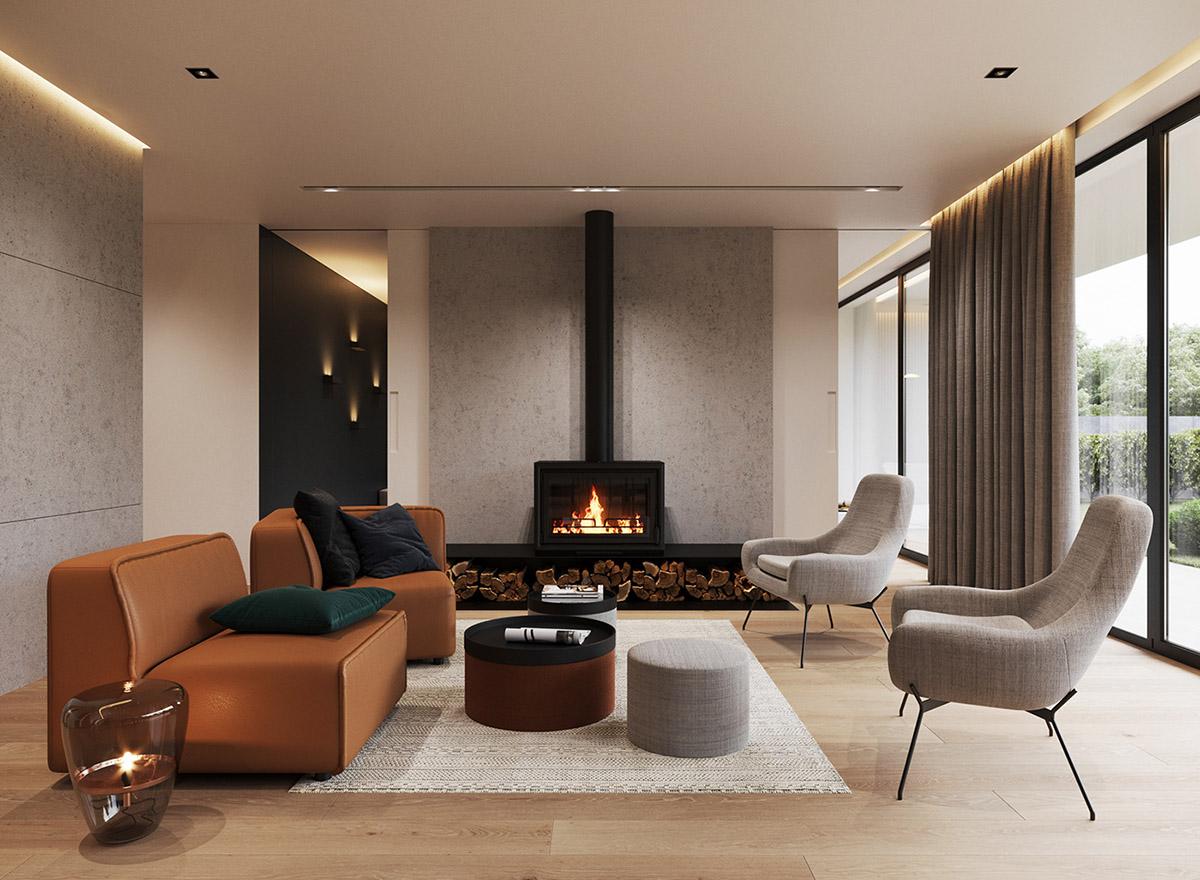 Masculine Living-Room Looks